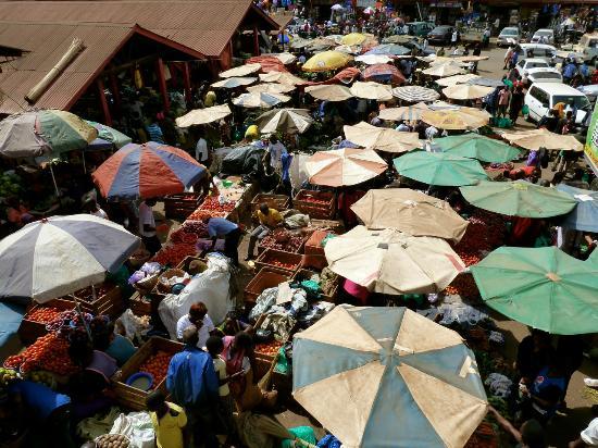 Shopping at Owino market