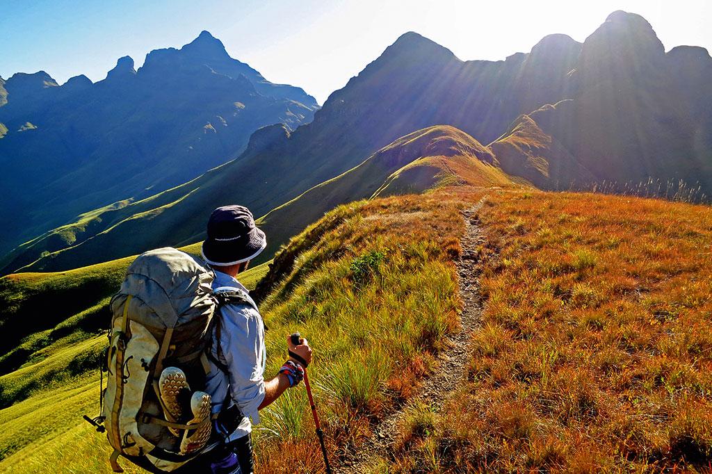 Hiking trails at Drakensberg