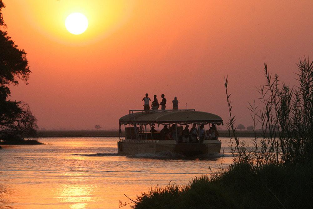 Sunset cruise at Thamalakane River
