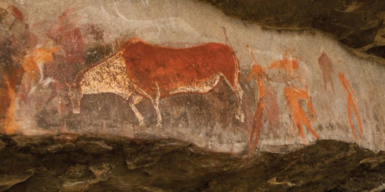 Explore the San rock paintings at Drakensberg