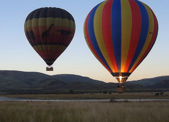 The hot air balloon tour