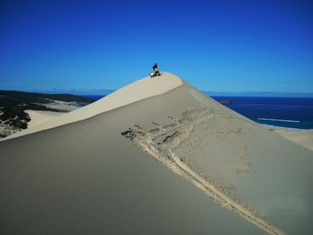 Sandboarding at Maitland Sand Dunes