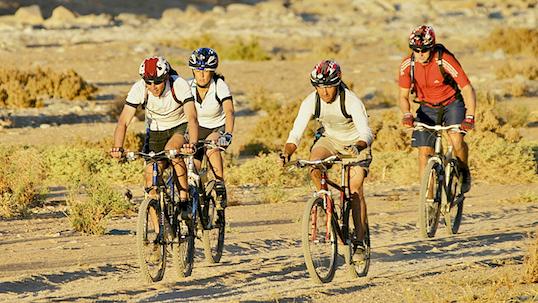 Mountain biking at Kalahari
