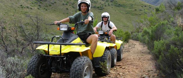 Zip lining and quad biking tours